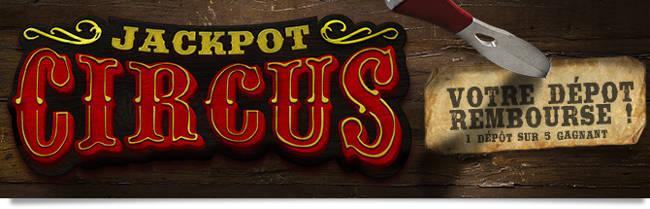 promotion jackpot circus winamax